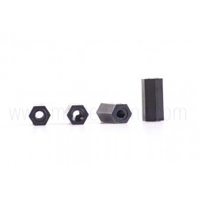 Seaparador Plastico Hexagonal M3 x 12mm (x4)