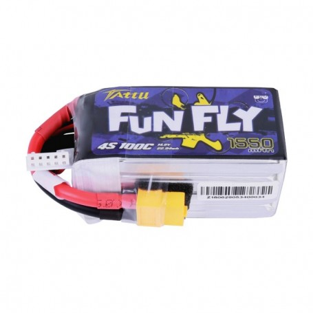 Tattu Funfly Series 1550mAh 14.8V 100C 4S1P Lipo Battery Pack