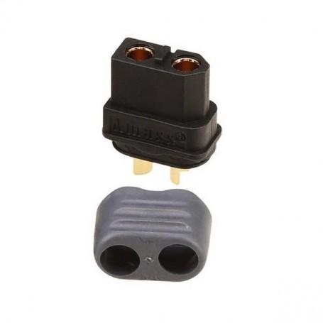 Conector Amass XT60H-F hembra negro