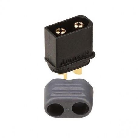 Conector Amass XT60H-M macho negro