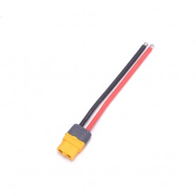 Connector Amass XT60H-M female + 10cm 14AWG soldered cable