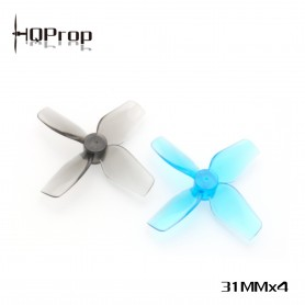 HQ Micro Whoop Prop 31MMX4 - Poly Carbonate - 1MM Shaft