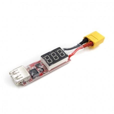 2S-6S Lipo Battery XT60 Plug to USB 5V 2A Converter